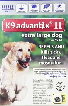 Bayer K9 Advantix II Flea and Tick Control Treatment for Dogs